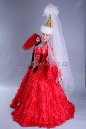 Казахские свадебные платья на Кыз узату