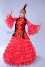 02106 Казахский национальный женский костюм