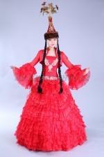 2055. Казахское национальное платье для Кыз Узату