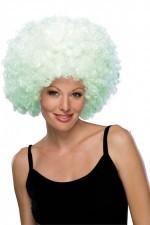 03187 Афро-парик белый светящийся