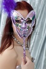 1591. Венецианская маска на палочке