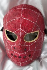 1655. Маска человека паука папье-маше