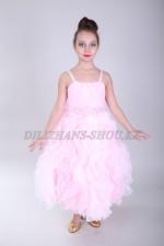 0333. Бальное платье с вертикальными оборками