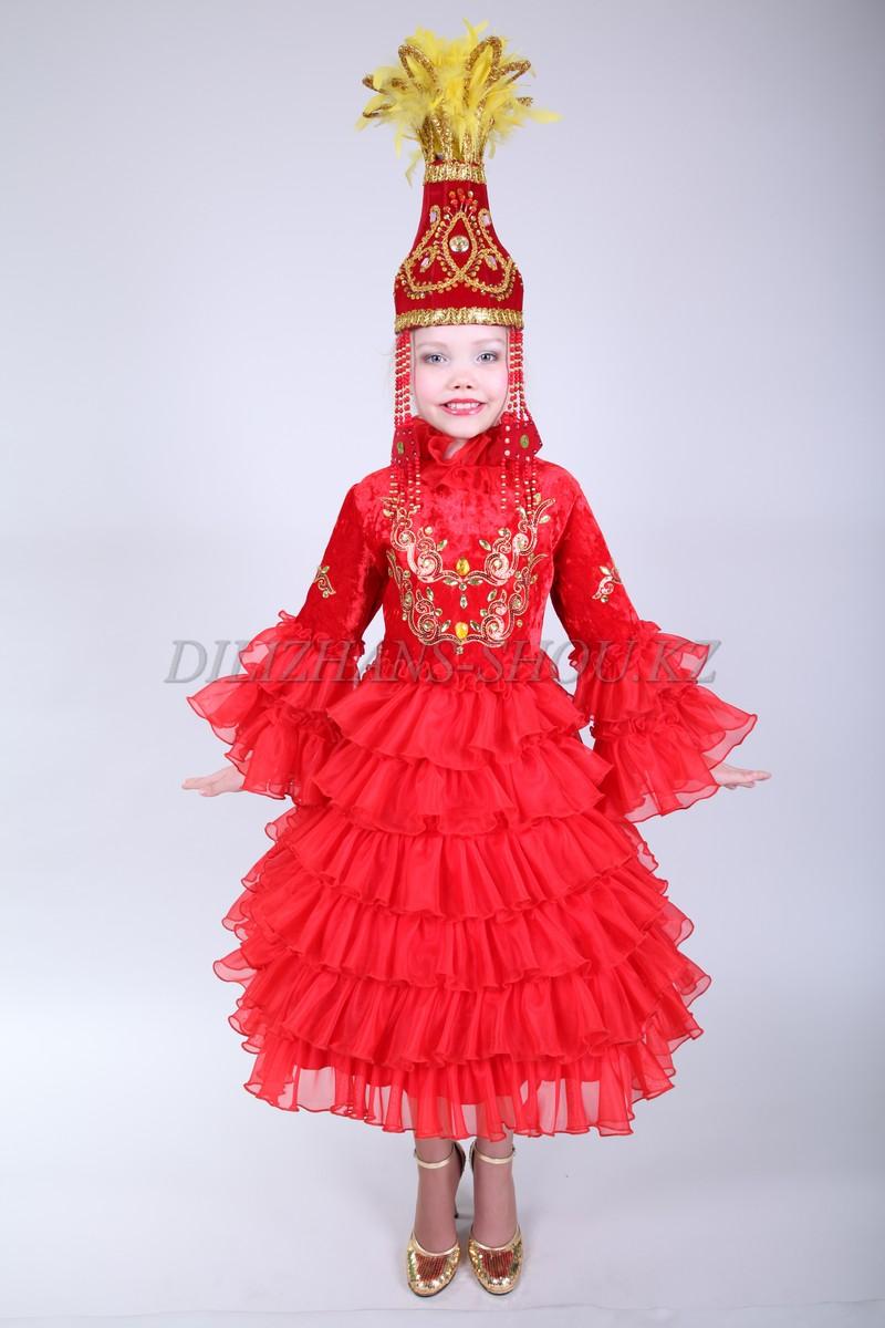 Казахские костюмы для девочек сшить своими руками 39