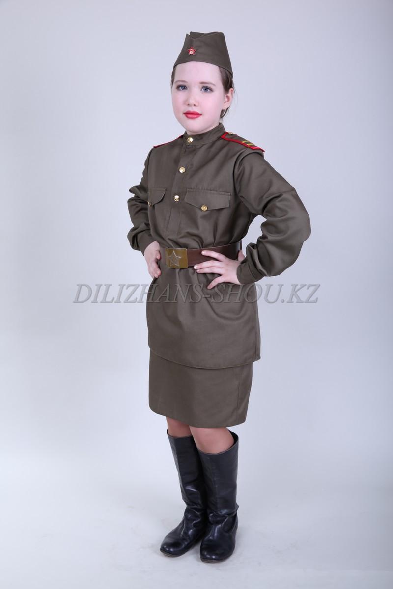 0553. Военный костюм для девочек