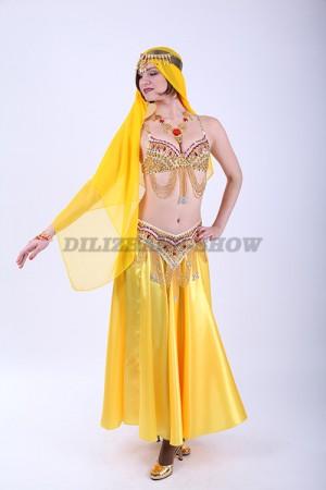 33345. Костюм для танца живота. Желтый.
