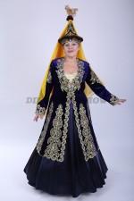 02118 Женский казахский национальный костюм