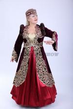 02119 Женский казахский национальный костюм