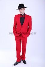 02036 Красный классический костюм
