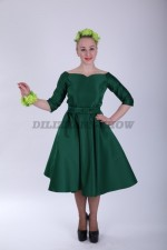 33544. Платье Анжелика зелёная