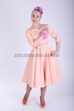 33546. Платье Анжелика персикового цвета