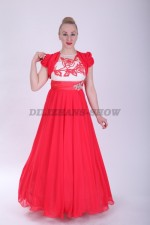 33579. Платье Камила в красном