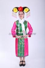 33582. Китайский костюм бирюзово-розовый