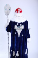 3685. Дед Мороз синий. Вид со спины.