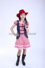 3757. Ковбойский женский костюм