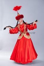 02083 Женский казахский национальный костюм