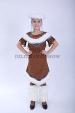 00848 Нанайский костюм для девочки