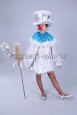01225 Снеговик серебристый в цилиндре