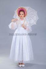 """00894 Платье """"Джульетта 3"""" и белый кружевное зонт"""