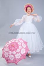"""00892 Платье """"Джульетта 3"""" и кружевной зонтик"""