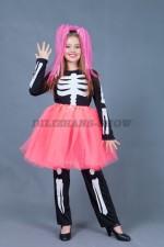 01133 Веселый скелет для девочки в шопенке