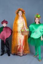 01054 Фото для семейной фотосессии в осеннем стиле. Свекла. Яблоко. Принцесса Осень.