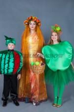 01056 Костюмы для семейной фотосессии. Принцесса Осень. Яблоко. Арбуз.