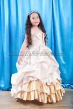0378. Бальное платье Королевское в золоте