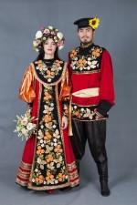 5781. Хохлома. Русские парные костюмы.