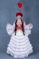 02071 Казахское национальное платье для девушки