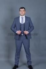 02013 Серый костюм тройка