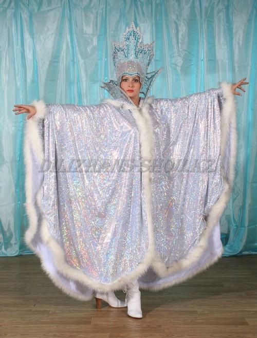 Как сшить накидку для костюма снежной королевы