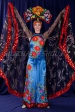 02715 Китайский костюм женский - Бабочка