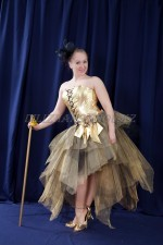 02745 Золотистая юбка-шопенка