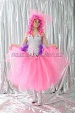 02747 Розовая юбка-шопенка
