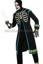 1435. Скелет с диодной подсветкой ирокеза