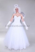 1318. Рождественский ангел в белом платье