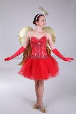 1334. Красный ангел с золотыми крыльями