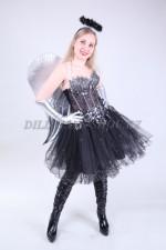 1332. Черный ангел с серебряными крыльями