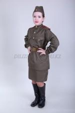 m-8506 детский военный костюм для девочки