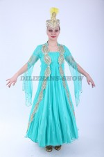 00788 Уйгурский бирюзовый костюм