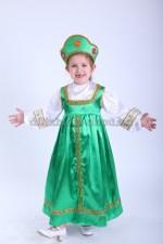 0291. Русский народный сарафан зеленый для самых маленьких
