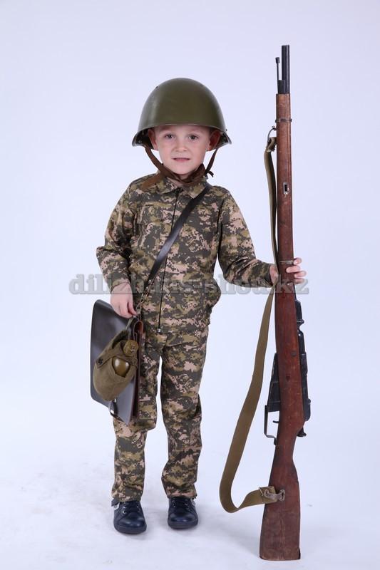 3309 Детский камуялыж. Атрибуты: ружье, сумка.