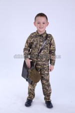 3311 Детский камуфляжный костюм с сумкой и фляжкой.