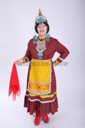 02155 Чувашский народный костюм женский
