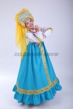 00626 Русский народный костюм «Алёнушка» 03 в кокошнике