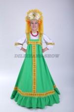 00625 Русский народный костюм «Алёнушка» 02 в кокошнике