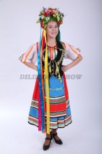 00831 Украинский народный костюм для девочки 02