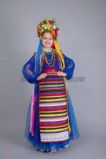 00842 Украинский народный костюм для девочки 05