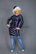 01834 Платье в стиле Дисхо 80х